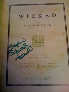 WICKED: The Grimmerie Autographed by Stephen Schwartz