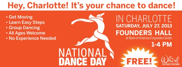 National Dance Day, Blumenthal Performing Arts, Charlotte NC