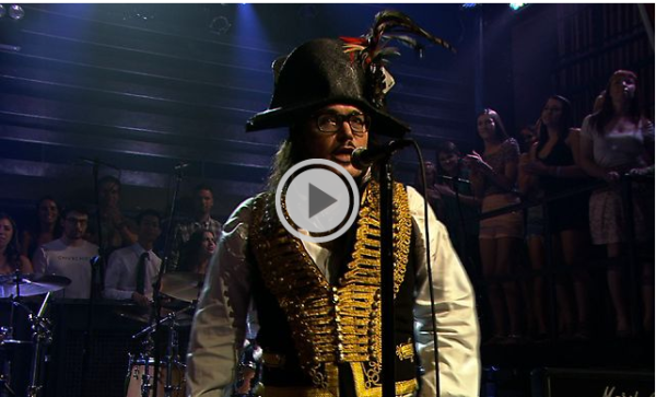 """Adam Ant perform """"Goody Two Shoes"""" on July 15 on """"Late Night With Jimmy Fallon."""""""