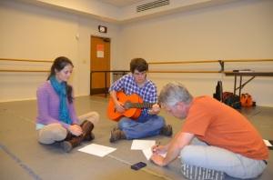 Team Broadway students practice in the studio.