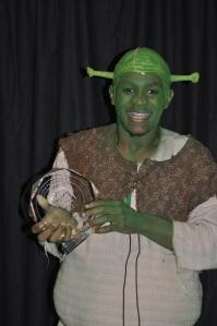 Mekhai Lee from Northwest School of the Arts wins Best Actor as Shrek (Shrek the Musical)
