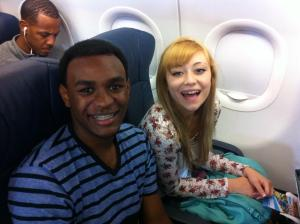 Left to right: Mekhai Lee abd Ashlyn Uribe are 'soaring' to new heights travelling to NYC for the Jimmy Awards.