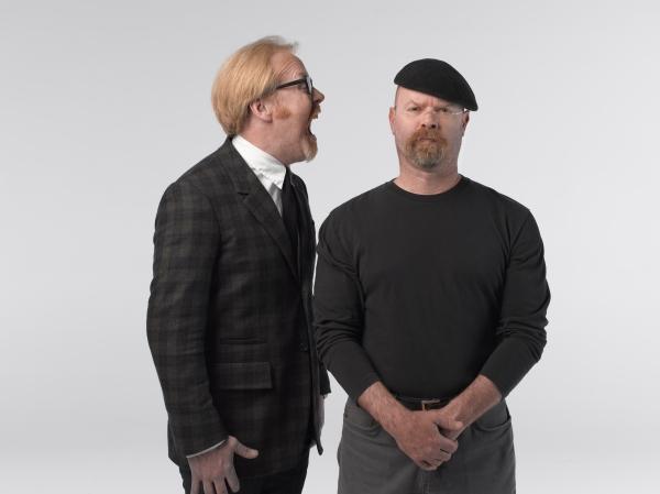 Stop by Belk Theater November 24 to see Mythbusters' Adam Savage and Jamie Hyneman.