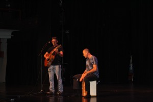 John Fenn Steila and Rony Telor entertain the crowd at Open Mic back in July.