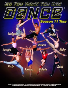So You Think You Can Dance Season 11 Tour in Belk Theater tonight.