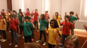 Students participate in interactive workshops at Knight Theater.