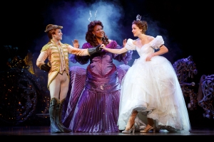 Adrian Arrieta, Kecia Lewis & Paige Faure in the National Tour of Rodgers + Hammerstein's Cinderella. Photo © Carol Rosegg.