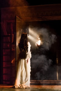 Julia Udine and Cooper Grodin in THE PHANTOM OF THE OPERA. Photo by Matthew Murphy.