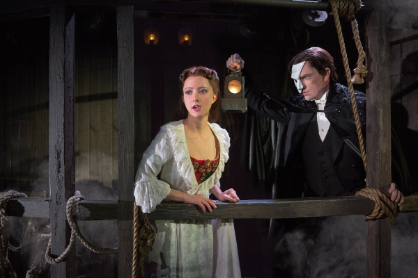 Katie Travis and Chris Mann in The Phantom of the Opera National Tour. Photo by Matthew Murphy.