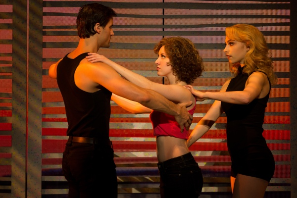 Samuel Pergande (Johnny), Jillian Mueller (Baby) and Jenny Winton (Penny) in the North American tour of DIRTY DANCING – THE CLASSIC STORY ON STAGE. Photo by Matthew Murphy.
