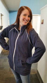 Blumenthal Marketing Rep Jessica Cleland models this great jacket!
