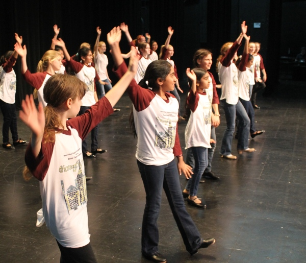 Metrolina Regional Scholars Academy students perform song from Thoroughly Modern Millie. Photo by Daniel Coston.