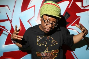 Jonzi D, artistic director of Breakin' Convention and hip hop theatre legend