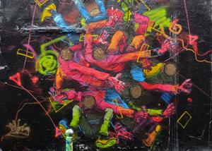 Graffit art created by German artist Theo Eifrig!