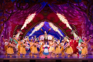 Jillian Butterfield and the cast of Disney's Beauty and the Beast. Photo by Matthew Murphy.