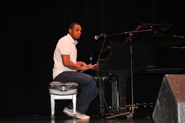 Jeffray Gommerie took the stage at Open Mic Night back in July.
