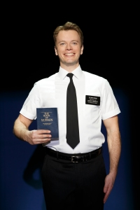 David Larsen in The Book of Mormon National Tour. Photo by Joan Marcus.