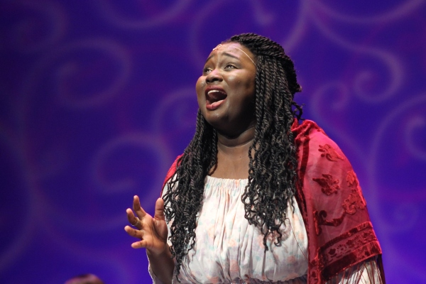 Amina Faye performs her heart out on the Belk Theater stage minutes before she was named Best Actress.